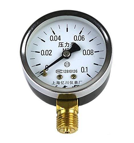 LIXUDECO Indicador de presión Girómetro de presión Y60 0.06~60 MPA Calibrador de presión de presión de presión ordinaria de Agua Barómetro de Baja presión (Pressure Range : 0 0.1 Mpa)