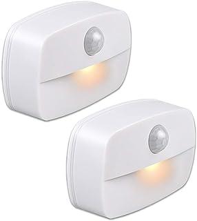 YzzYzz Veilleuse LED Automatique [Lot de 2], Lampe de Nuit Murale avec Détecteur de Mouvement autocollante, Veilleuse Mura...