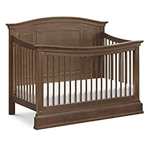 Million Dollar Baby Classic Durham 4-in-1 Convertible Crib in Derby Brown, Greenguard Gold Certified