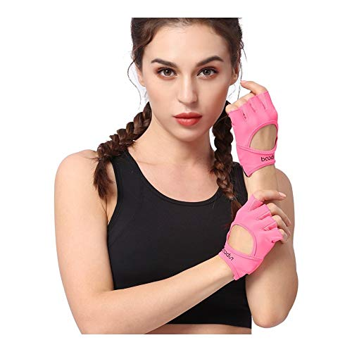 SSGLOVELIN Guantes Gimnasio Body Building Training Fitness Sports Peso Ejercicio de Levantamiento Guantes Antideslizante for Mujeres Guantes de Yoga Color Rosa (Color : Pink, Size : S)