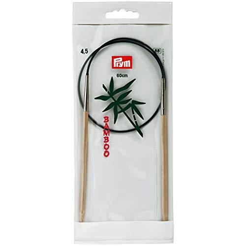 Prym 221517 Rundstricknadeln, 60 cm, 4,50 mm Rundstricknadel, Bambus, Natur, 4,5 mm