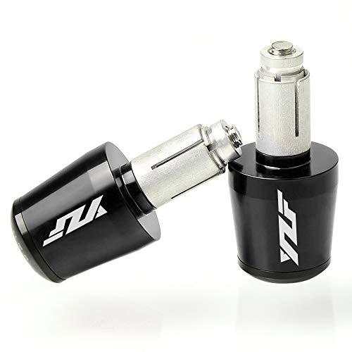 22mm 7/8\'\' Motorrad Lenkergriffe Endkappen Aluminium für Yamaha YZF R1 R3 R6 R6S R25 R125 600R Schwarz