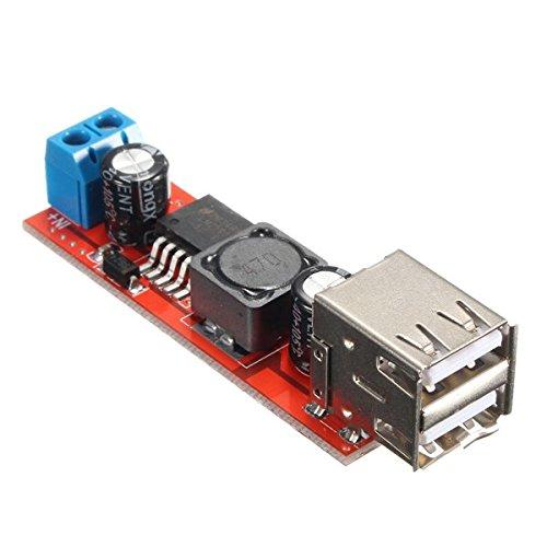 """ILS - Modulo Convertitore con Doppio USB da 9V/12V/24V/36V a 5V DC-DC 3A Riduttore di Tensione"""""""
