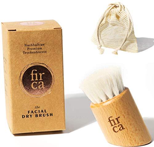 firca® 2in1 Gesichtsbürste zur Trockenbürsten Massage 100{dd9810872b79a83bc7467ec100e150059ac6832874b8d103d2fc29b9378d81a5} Natur-Borsten & GRATIS SISAL PEELING | Peeling, Reinigung| Buchen Holz |dry brush face| Trockenbürste Gesicht
