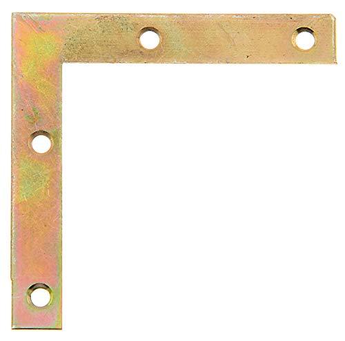 GAH-Alberts 337001 Möbelwinkel | galvanisch gelb verzinkt | 75 x 75 x 12 mm | 50er Set