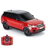 CMJ RC Cars Range Rover Coche Teledirigido - 2.4ghz - Range Rover Sport 1:24 (Rojo) Coche Electrico Niño
