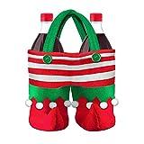 Deanyi Bolsa 1PC del Duende de Caramelo Bolsa de Regalo Creativo de la Galleta Saco llenador de la Media Botella de Vino de Almacenamiento portátil Partido de Navidad de la decoración del Bolso Saco
