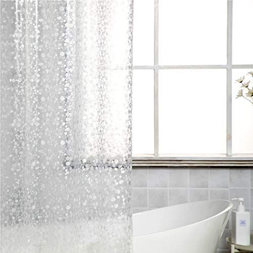 Foruisin EVA 3D Cobblestone Shower Curtain Liner with 12...