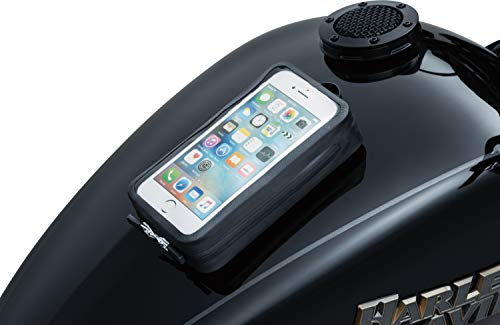 Kuryakyn 5253 Motorcycle Accessory: Quick-Stash Water Resistant GPS Device/Phone Holder Magnetic Pouch for Steel Gas Tanks, Black
