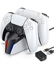 PS5 コントローラー 充電器 ECHTPower PS5 充電スタンド オリジナルデザイン 2台同時充電可能 急速充電 LEDランプ付き 過充電防止