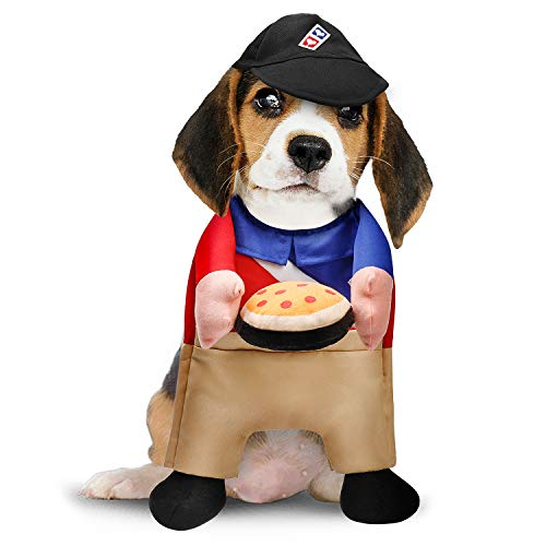 Toozey Dog Cat Pizza Delivery Costumes, Pet Halloween Christmas Cosplay Costume (M)