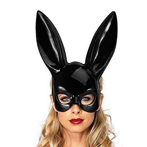 PinkLu Haarband Damen Osterfest Helle Kaninchenmaske Party Geheimnisvoll Elegantes Temperament Wilde Mode Neuer HeißEr Schwarze Und WeißE Maske
