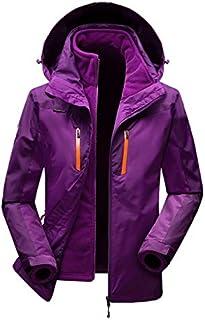 BEESCLOVER Outdoor Men Women Windproof Climbing Hiking Jacket Winter 3 in 1 Outdoor Soft Shell Jacket Waterproof Coats Outdoor Hooded