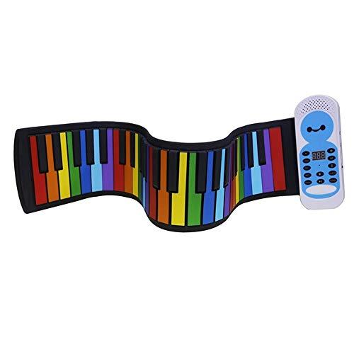 Best Bargain MDYYD Roll up Keyboard 49 Key Hand Roll Piano Silicone Color Mini Children Beginner Por...