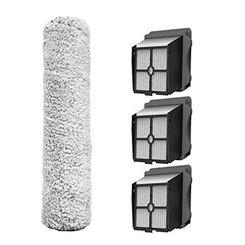 3X Filter 1X Bürstenrolle für Tineco Floor ONE S3 iFloor 3 Bürstenrolle Zubehör Ersatzteile