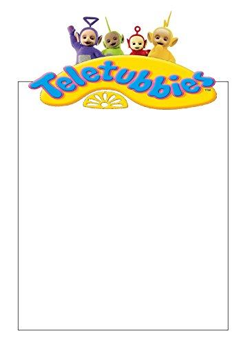 25 A4 les Télétubbies Motif/d'écriture sur le thème des petits Établissements papier – Uni papeterie