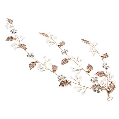 SM SunniMix Hochzeit Haarband Kristall Kopfbedeckung Haar Kränze Stirnbänder Prom Tanzblätter