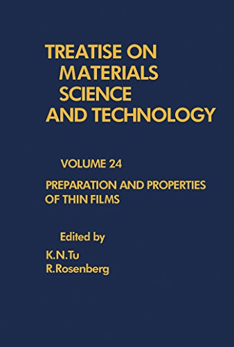 Preparation and Properties of Thin Films: Treatise on Materials Science and Technology, Vol. 24 (English Edition)