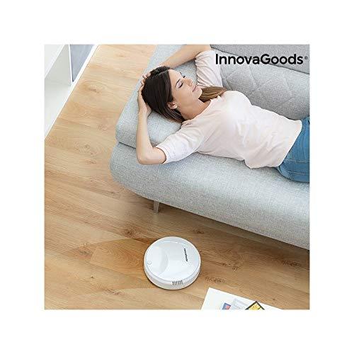 InnovaGoods Rovac 1000 - Robot aspirador inteligente, Autonomía aprox.: 80 min, blanco