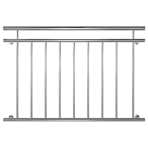 Edelstahl Französischer Balkon Geländer Balkongeländer 90 x 128 cm V2Aox