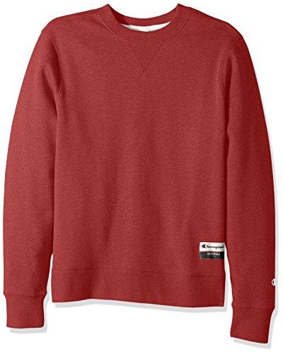 Champion Men's Authentic Originals Sueded Fleece Sweatshirt, Carmine Red Heather, Large