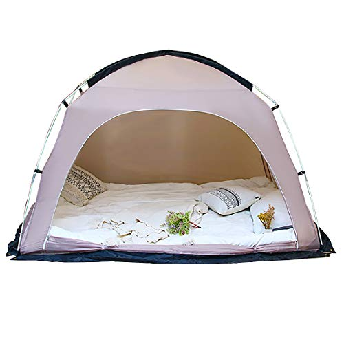 DalosDream Bed Canopy Privacy Tents Bed Tent Shelter Queen Size Indoor Pop Up Portable Frame...