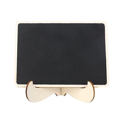 ULTNICE Mini Tableaux Noirs Ardoises en Bois avec Chevalet pour Nom Cartes Réception Mariage Numéro de Table et Prix