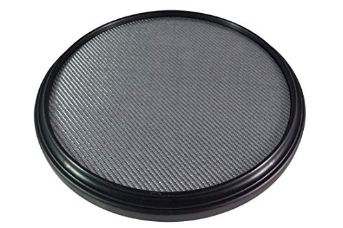 The 12-inch Double Sided Premium Practice Pad, Marching Snare Pad - Fully Rimmed with an Articulate Fiberglass Laminated Surface, The Absolute Essential Marching Snare Pad