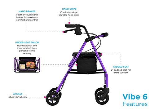 NOVA Vibe 6 Rollator Walker is a very good quality, light weight rollator walker