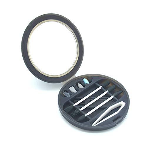 ZUCAI Coton-Tiges Réutilisables,Bâton De Coton-Tige en Silicone Double Face,Bâtons De Soins Oculaires Lavables pour Le Maquillage De Traitement De Beauté pour Le Nettoyage des Oreilles,Noir