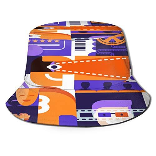 Sombrero de Pescador Unisex Cine de Elementos de diseño...