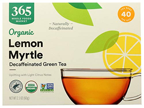 365 by WFM, Tea Green With Lemon Myrtle Decaf Organic, 40 Count