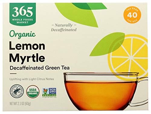 365 by Whole Foods Market, Organic Green Tea - Decaffeinated, Lemon Myrtle (40 Tea Bags), 2.1 Ounce