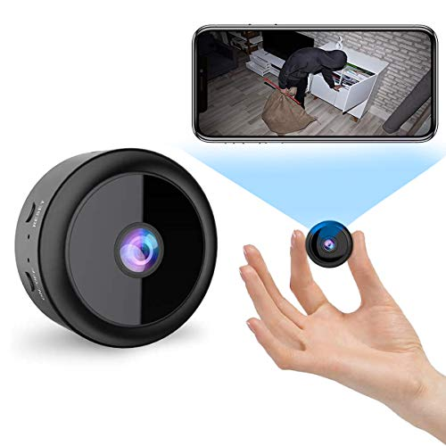 Mini Telecamera Spia Nascosta,Full HD 1080P Portatile telecamera wifi esterno,microcamere spia con Visione Notturna Piccole,kit Videocamera Sorveglianza per Esterno/Interno