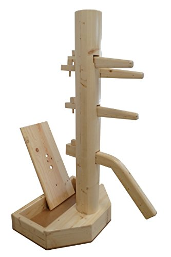 Wing Chun Wooden Dummy with Base With Form And Cover Natural Color