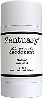 Zentuary Aluminum-Free Natural Deodorant (Unscented) Works All Day! | 100% Natural | Alcohol Free, Cruelty Free & Aluminum Free Deodorant | for Women, Men & Kids