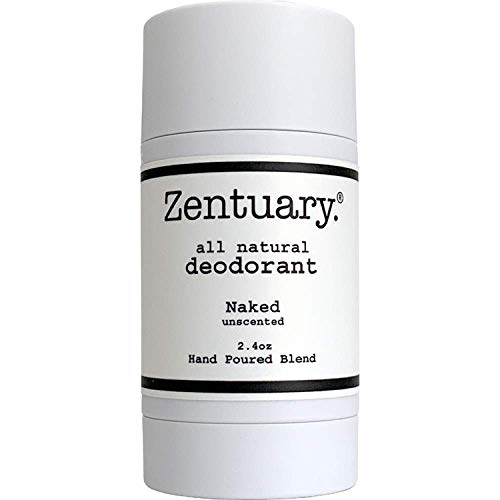 Zentuary All Natural Aluminum Free Deodorant for Women and Men   Nothing Bad & It Works!   Good For All Humans (Unscented)