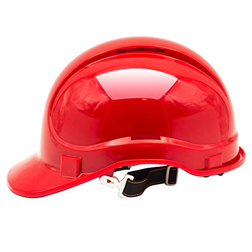LSX - Casco Casco de Seguridad - Orificio de ventilación ABS Potencia Obra Obra ingeniería Edificio Industrial Casco (Color : Red) ⭐