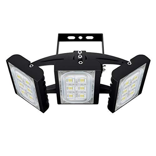 CHICLUX Projecteur LED extérieur pour Garage, 8100LM, 6000K (éclairage Blanc lumière du Jour)...