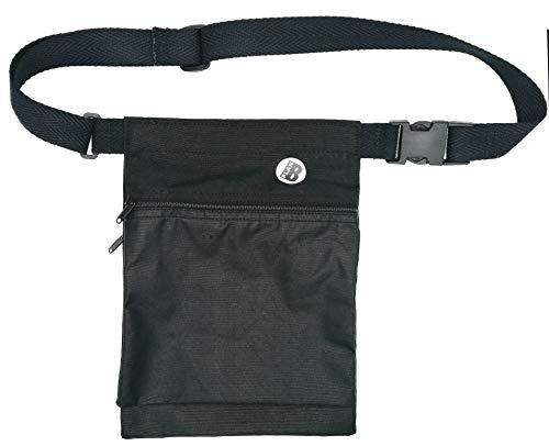 Plan B, Riñonera Lateral Básica, 27 x 20 cm, con 2 Bolsillos y Cinturón Ajustable, Negro