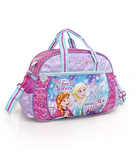 Frozen - Bolsa de Deporte y Viaje para niña, 38 x 17 x 27 cm