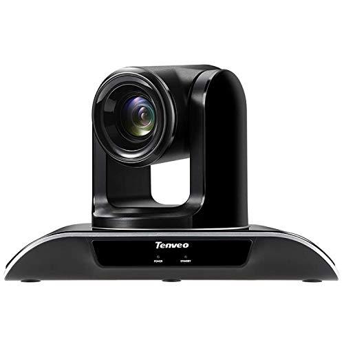 Tenveo Konferenzkamera 3X Optischer Zoom 1080p Full-HD, Weitwinkel USB PTZ Webcam mit Fernbedienung, für YouTube/Twitch/OBS Live Streaming, Skype/Zoom Videokonferenzen (TEVO-VHD3U)