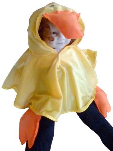 Enten-Kostüm als Umhang, An68 Gr. 74-98, Ente Faschingskostüm für Klein Kinder Enten-Kostüme Enten-Kinderkostüm für Fasching Karneval, Klein-Kinder Karnevalskostüme, Kinder-Faschingskostüme