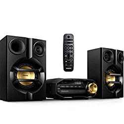 in budget affordable Home Philips FX10 Bluetooth stereo system with CD, MP3, USB, FM radio, bass reflex …