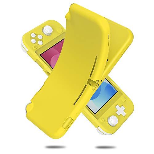 Vikisda Nintendo switch Lite ケース カバー TPU保護 ソフト シリコンケース 薄型 衝撃吸収 耐衝撃 柔らかい手触り イェロー