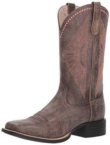 Ariat Women's ROUND UP RIO Boot, naturally distressed brown, 11 B US