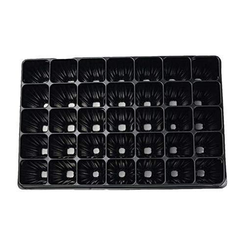 PAMPOLS Bandejas de Germinación Semilleros de Plástico Rígido Negro para Plantar Esquejes Sembrar Semillas o Cultivar Planteles – Jardinería y Huerto – Pack de 70 Bandejas Apilables con 60 Alveolos