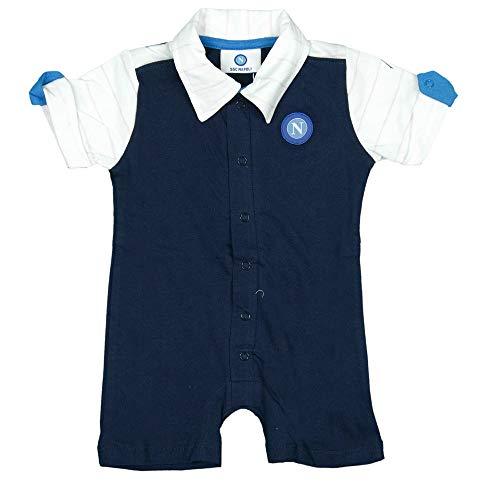 ssc napoli P19i1n90576, Pijama Infantil de Manga Corta Unisex para niños 0-24, Unisex, bebés 0-24, P19I1N90576, Turquesa, 3 MESI