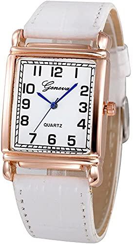 ZFAYFMA Relojes de Mujer, Mujeres Casuales Dastos Faux Cuero Cuarzo Reloj de Pulsera Analógica Reloj de aleación Reloj de Negocios Relojes de Negocios de Cuero Femenino Pink