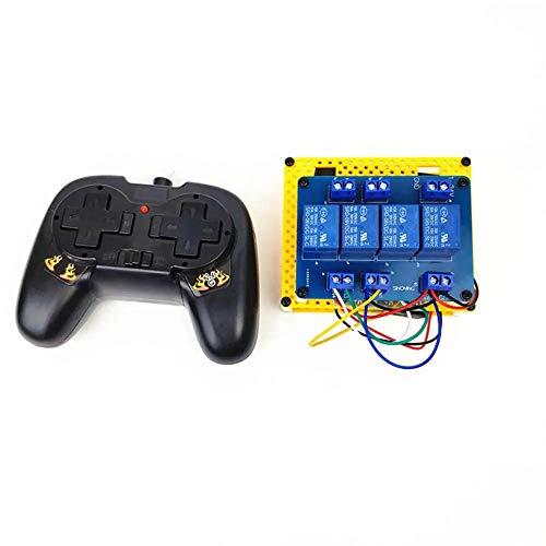 LIUXING RC Sender und Empfänger 2.4G 4CH Controller-Transmitter-Modul for RC Roboter Tank Car Boot (Farbe : Schwarz, Größe : Einheitsgröße)